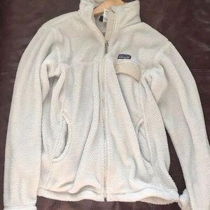 Patagonia Fleece Zip hoodie sz M (has small hole)